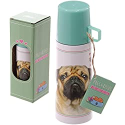 Borraccia Thermos da 350 ml Design Cane Cagnolino Pug Carlino