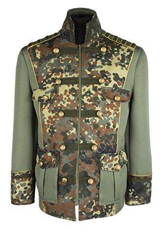 (M&G Atelier Herren militär Army Camouflage Jacke Hochwertige Kostüm Karneval Fasching 46-66 (60))