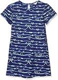 Yumi Girl's Jersey Anchor Dress, (Bright Blue), 7-8 Years