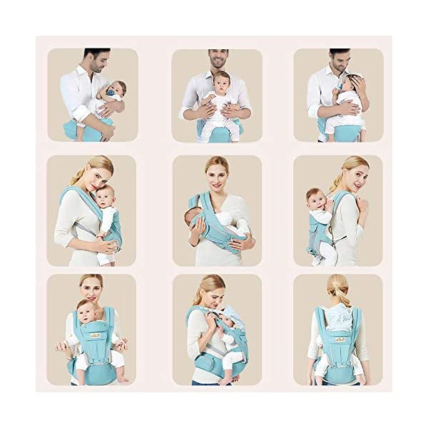 Viedouce Baby Carrier Ergonomic with Hip Seat/Pure Cotton Lightweight and Breathable/Multiposition:Dorsal, Ventral, Adjustable for Newborn and Toddler from 0 to 4 Years (3.5 to 20 kg) Viedouce 【More environmentally friendly】-Baby carrierhashighquality pure cotton fabric with 3D breathable mesh take care of your health and the health of your baby; The detachable sun visor and wind cap provide warmth in the winter and freshness in the summer. At the same time, the zipper buckle is designed for easy disassembly and cleaning. 【More ergonomic】 -Baby carrier for newborn has anenlarged arc stool to better support the baby's thighs, the M design that allows the knees to be higher than the buttocks when your baby sits, is more ergonomic. 【Comfort and safety】 - The area near the abdomen is filled with a soft and thick sponge, reduces the pressure on the abdomen and gives more comfort to you and your baby. High quality professional safety buckles and velcro, shock absorbing pads, are equipped to protect your baby. 2
