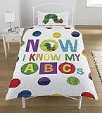 Unbekannt Die Kleine Raupe Nimmersatt 'ABCs-' Single Bettbezug-Set, Mehrfarbig