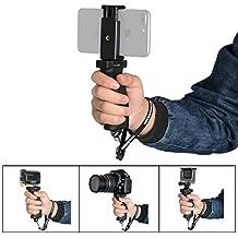 Fantaseal® Grip Smartphone Poignée, Robuste Caméra Monopod Ergonomique Support+Pince de Téléphone pour 1/4''DSLR Caméra Nikon Canon Pentax Olympus+Iphone 8plus/8/7/Sony/Samsung etc