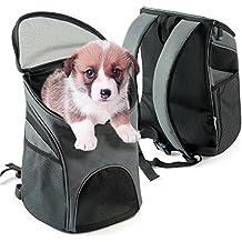 Pet Carrier for Dogs Gatos / Bike Dog Carrier / Dog Cat Viajes al aire libre Mochilas cabeza hacia fuera de diseño ajustable portátil hombro correa (grande)