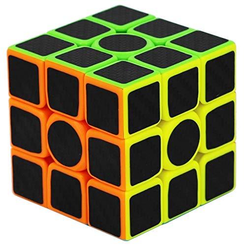 NFHNBABO El Cubo De Rubik Etiqueta De Fibra De Carbono