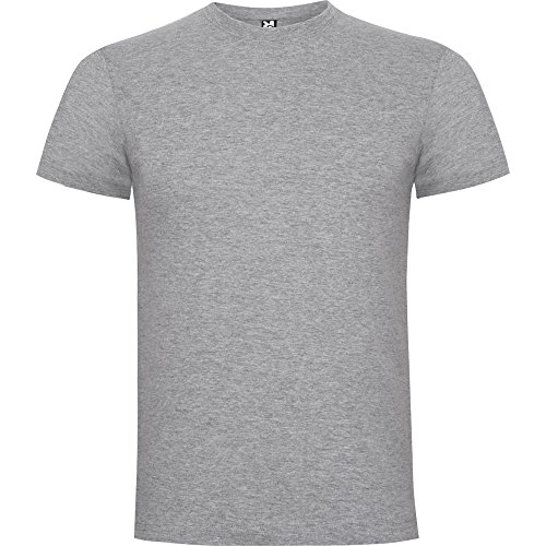 Camiseta de manga corta, cuello redondo de 4 capas y cubre costuras reforzado en cuello y hombros. (L, GRIS VIGORÉ)
