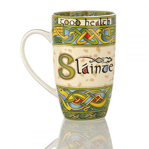 Eburya Slainte Mug - Kaffeebecher aus Keramik mit keltischen Ornamenten