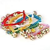 Huhuswwbin Hundehalsband für Welpen, Katzen, Hunde, Kätzchen, weich, Strickhalsband, Sicherheitsschnalle mit Glöckchen, zufällige Farbe
