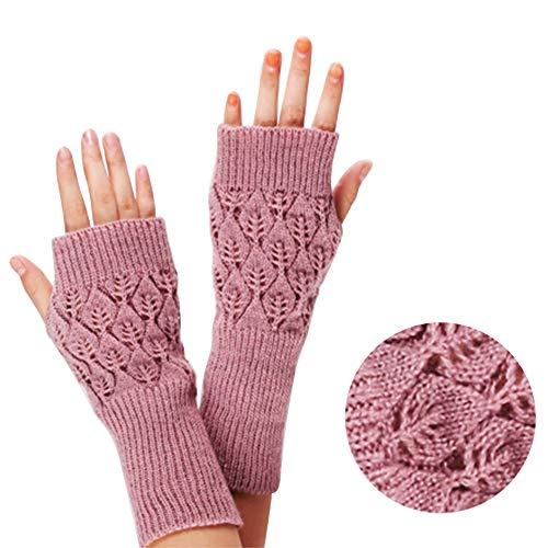 Amorar Frauen Winter Handschuhe Fingerlose Armwärmer Muffs Armstulpen Kurzarm Wrap Warmers Handstulpen Fäustlinge Hollow Wrist Warner Pulswärmer,EINWEG Verpackung - Kurzarm-wrap
