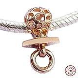 MOCCI 2018 Mutter Geschenk Rose harmonische Herzen Schnuller Bead 925 Silber DIY Passt für Original Pandora Armbänder Charm Modeschmuck