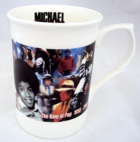 Michael Jackson Tasse Fine Bone China Michael Jackson The King of Pop Tribute Tasse Hand-dekoriert in Großbritannien