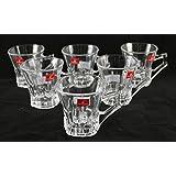 Transparent Glass Tea & Coffee Cups Mug (Set Of 6) By Pratham Enterprises