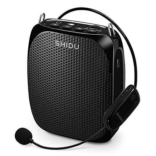 Mini Amplificatore di Voce da Cintura Portatile con senza fili icrofono Amplificatore vocale con batteria al litio da 1800mAh per insegnanti guide