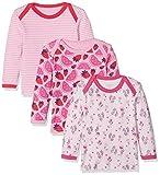 Care Baby - Mädchen Langarmshirt 550140, 3er Pack, Gr. 74, Rosa (Pink 528)