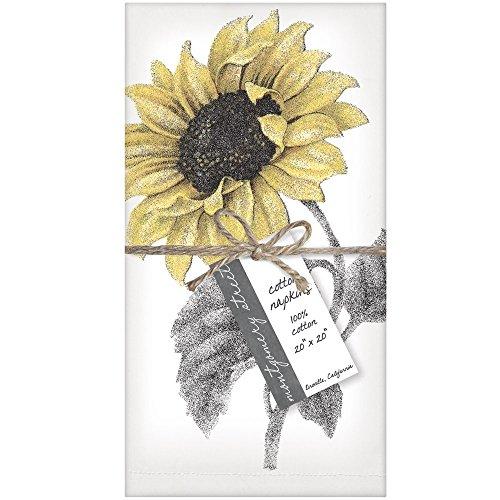 Montgomery Street Designs Montgomery Street Sunflower Baumwolle Servietten, Set von 4 Mehrfarbig Set Sunflower-design