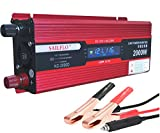 SAILFLO Digital Display Car Power Inverter 2000W 12V DC a Port 220V / 230V / 240V AC USB di collegamento con i cavi della batteria con i clip ventilatore incorporato