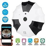 DIDseth 360° Überwachungskamera Fisheye IP Kamera 960P Mini Panorama Kameras Netzwerk Home Security WiFi Kamera mit Vollansicht/IR Nachtsicht/2 Weg Audio/Bewegungsmelder für Haus/Baby Überwachung