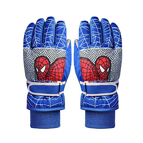 Happy Banana Skihandschuhe Spiderman Handschuhe Fausthandschuhe für Kinder mit Guter Bewegungsfreiheit, wasserbeständig und Winddicht für 4–6 Jahre Blau | 03013911426170