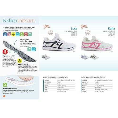 Oxypas Fashion, Luca, antistatischer (ESD) Arbeitsschuh für Herren Navy
