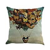 Cubierta de almohada de estampado de mariposas,SubfamilyPintura Cojín de lino Throw Waist Pillow...