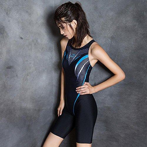 AMYMGLL Frauen professionelle Rennen engen Badeanzug verbunden Winkel lange Beine Badehose schnell Europa und den Vereinigten Staaten hoch elastischen Rennen schwarz Black