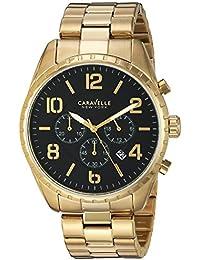Bulova Men's Quartz Stainless Steel Casual Watch, Color:Gold-Toned (Model: 44B114)
