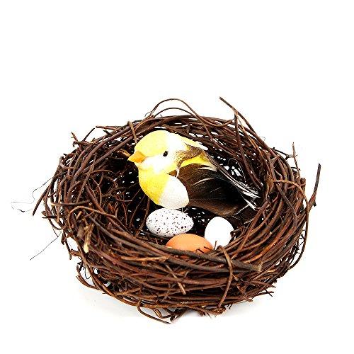 Miniatura Resina pájaro nido nido jardín decoración adorno de hadas Macetas Macetas...