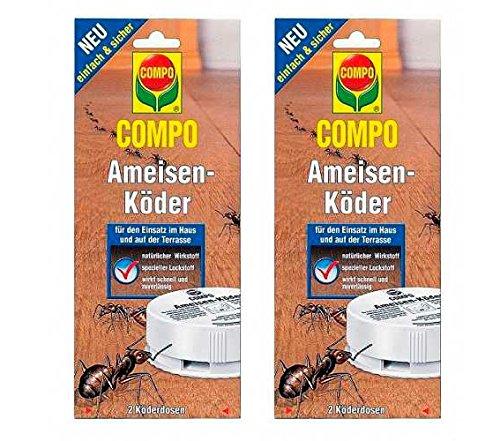 COMPO Ameisen-Köder 4 Dosen Vorteilspackung (2× 2 Dosen)