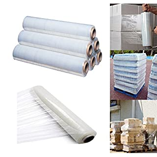 400mm X 250 meter Rolls Clear Pallet Stretch Shrink Wrap Parcel Packing Cling Film Pack of 18