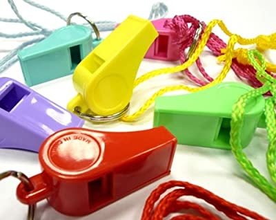 Plastic Whistle - Assorted colours (sold individually) : everything five pounds (or less!)