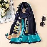 Hmeili Schals Schals Hijabs Wrap Farbe Blöcke Schals Weiblichen Strand Stola Bandana Frauen Imitation Seidentuch Beach Shawl