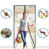 BALFER Magnet Fliegengitter Tür Insektenschutz Vorhang 90x210cm Magnet Fliegenvorhang