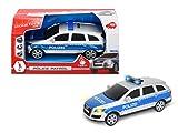 Dickie Toys 203713008 - Police Patrol, Polizeiauto mit Friktionsantrieb, Audi Q7 mit Licht- und Soundfunktion, 1:24, 20cm