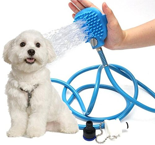 smart sisi Pet Bathing Tool,Grooming Bath Massager Shampoo Brush for Dog or Cat,Adjustable Handheld Sprayer