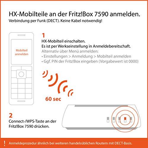 Gigaset C570HX Schnurlostelefon / Mobilteil mit TFT-Farbdisplay (6-zeilig) für DECT / CATiq Router und Freisprechfunktion schwarz - 6