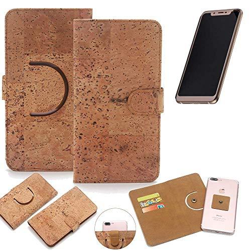K-S-Trade Schutz Hülle für Doogee V Handyhülle Kork Handy Tasche Korkhülle Schutzhülle Handytasche Wallet Case Walletcase Flip Cover Smartphone