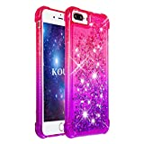 KOUYI Coque iPhone 8 Plus/7 Plus [Série Quicksand] Flottant Liquide Brillant Mode...