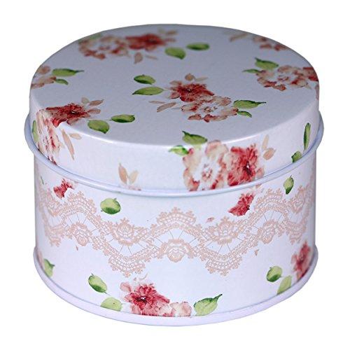 CARMANI - Blumenvariation Sammlerstück Mini Metall Trinket Tobacco Süßigkeiten Zinn Schmuck Fall Münze Teebehälter Micro Schatz Aufbewahrungsbox mit Deckel -
