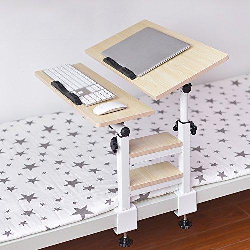 Laptoptisch Verstellbarer Laptop Stand Bett Tisch, Faltbare Frühstückstablett, Qualität Notebook Stand, Spiele Spielen Auf Bett Tisch, Desktop 360 ° Freie Rotation, Kohlenstoffstahl Rahmen ( Farbe : E ) (Multi-funktion-laptop-tisch)