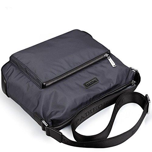 BULAGE Beutel Querschnitt Schulter Männer Taschen Canvas Messengerbag Outdoor Sport Mode Männer Wirtschaft Arbeit Großzügig Black