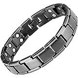 Willis Judd Mens Gunmetal Titanium Double Row Magnetic Bracelet In Black Velvet Gift Box + Free Link Removal Tool