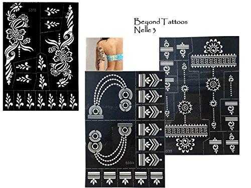 3sheets tattoo stencil modelli henna design per disegnare sul corpo nelle 3