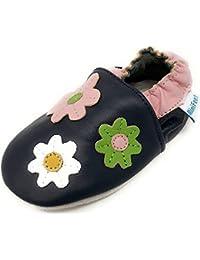 MiniFeet Premio Scarpe Bambino in Morbida Pelle - Scarpette Neonato - Scarpe Neonato Bambino Bambina - Scarpine in Pelle Prima Infanzia - 0-6, 6-12, 12-18, 18-24 Mesi e 2-3, 3-4 Anni