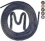 MEVID 3 Paar - gewachste Business Schnürsenkel für Anzugschuhe, dunkelblaue Rundsenkel in hoher Qualität aus 100% Baumwolle – Ø 2,5mm