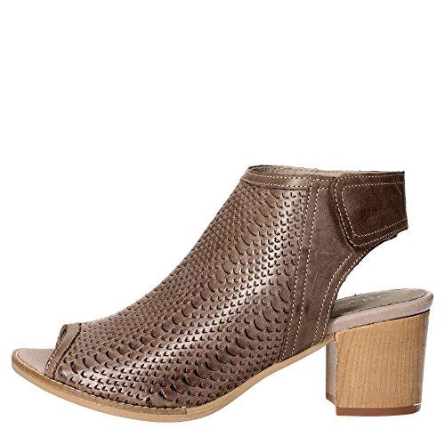 Pregunta PQ5581456-S 002 Sandalo Donna Pelle Marrone Marrone 40