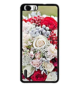 Flower Bouquet 2D Hard Polycarbonate Designer Back Case Cover for Huawei Honor 6