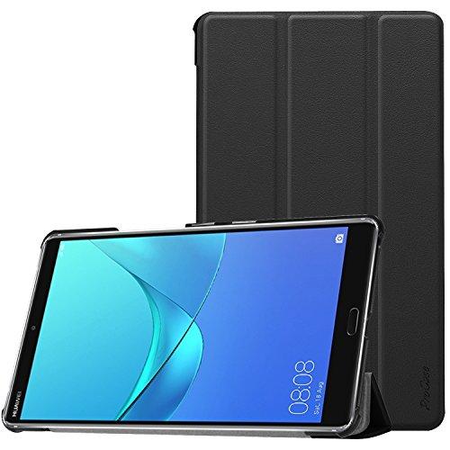 ProCase Huawei MediaPad M5 8 Hülle,Schlank Stand Starr Hülle Intelligente Hülle für 8.4 Zoll Huawei MediaPad M5(2018 Veröffentlichung) -Schwarz