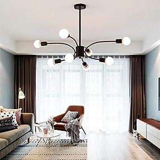 Lampadario molecolare a LEDvetro farfalla, lampada creativaferro battuto, lampada per soggiorno d'arte personalizzata, lampada a fagiolo magico