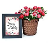 Best Male Birthday Gifts - TIED RIBBONS Artificial Peonies with Bamboo Basket Review
