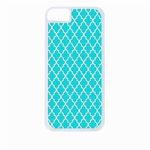Blue Lattice Pattern - Hard White Plastic