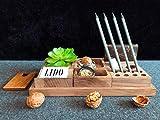 Hochwertiger Schreibtisch-Organizer aus Walnuss-Holz Schreibtisch-Ordnungssystem für Büro & Haushalt